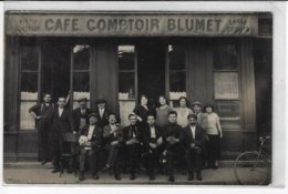 Carte-Photo - Café Comptoir BLUMET : à Identifier - Animée  (T70) - Fotografía