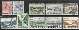 Iceland   1956-7   10 Diff Used   2016 Scott Value $6.25 - Usados