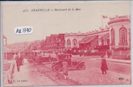 DEAUVILLE- BOULEVARD DE LA MER- ENCRE ROUGE- ELD 455 - Deauville