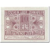 Billet, Autriche, Zell B. Zellhof, 10 Heller, Paysage, 1920, 1920-12-31, SPL - Autriche