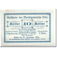 Billet, Autriche, Vitis, 10 Heller, Graphique, 1920, SPL, Mehl:1115 - Autriche
