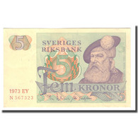 Billet, Suède, 5 Kronor, 1973, 1973, KM:51d, TTB - Schweden