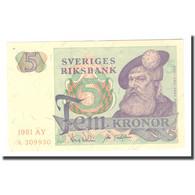 Billet, Suède, 5 Kronor, 1981, 1981, KM:51d, TTB - Suède