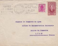 ESC De Beyrouth (Liban) Pour Lyon (69) - 28 Février 1940 - Timbre 0.50p + 4.50p - 2 CAD - Liban