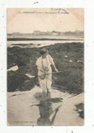 Cp, Sports, Pêche,une Pêcheuse De Crevettes ,  44 ,  PORNICHET ,  Voyagée 1909 - Pêche