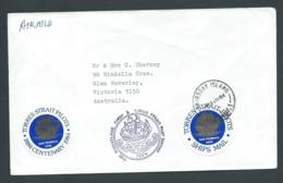 Australia 1984 Torres Strait Pilots Centenary Cover With Labels & Seal , Thursday Island Cds - 1980-89 Elizabeth II
