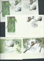Australia China 1995 Koala & Panda Bear Joint Issue Sets & Both Miniature Sheets On 4 FDC Official Unaddressed - 1990-99 Elizabeth II
