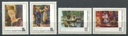 252 ALBANIE 1991 - Yvert 2253/56 - Peinture Tableau - Neuf ** (MNH) Sans Trace De Charniere - Albania