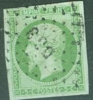 France    12a  Ob  Quasi TB  Obli  DS3 - 1853-1860 Napoléon III