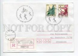 421114 POLAND 1997 Year European Cycling Championship Glogow Registered COVER - 1944-.... République