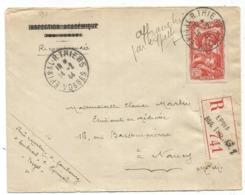 N°598 SEUL LETTRE REC EPINAL 14.2.1944 AU TARIF PEU COMMUN - Marcofilia (sobres)