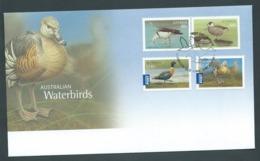 Australia 2012 Waterbirds Set 4 On FDC Official Unaddressed - 2010-... Elizabeth II