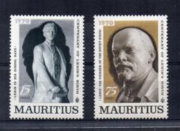 MAURITIUS - 1970 - Centenario Della Nascita Di Lenin - 2 Valori - Nuovi - Linguellati - (FDC16883) - Mauritius (1968-...)