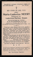Essene, Esschene, Ternath, Ternat, 1932, Maria Meert, Steppe - Devotion Images