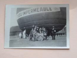 LUCHTBALLON ( Air Balloon / Montgolfière ) .........SSU IMPERMEABLE ( Zie / Voir Photo ) Anno 19?? ( Foto 9 X 6 Cm. ) ! - Luchtvaart