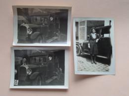 Oude AUTO'S Vieux / Old Cars ( Zie / Voir Photo ) Anno 19?? ( 3 Pcs. > Format Photo 9 X 6 Cm. ) ! - Automobiles