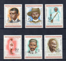 MAURITIUS - 1969 - Centenario Della Nascita Di Gandhi - 6 Valori - Nuovi - Linguellati - (FDC16884) - Mauritius (1968-...)