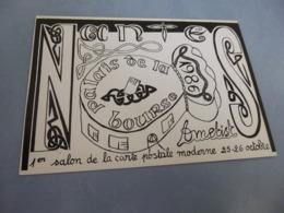 BELLE ILLUSTRATION ....AMETIST....1ER SALON DE LA CARTE POSTALE MODERNE AU PAYS DU MUSCADET ..NANTES 1986 - Bourses & Salons De Collections