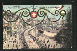 Künstler-AK Lausanne, Fete Federale De Gymnastique 1919, Festparade Im Geschmückten Ort - VD Vaud