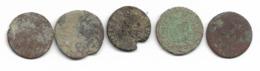 Lot De 5 Deniers Tournois 17e Siècle à Identifier - 987-1789 Monnaies Royales