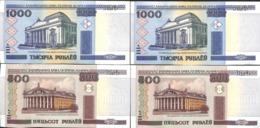 Belarus Biélorussie - Lot 2x 1000 & 2x 500 Roubles (numéros Qui Se Suivent) (3) - Belarus