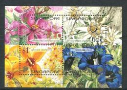 252 SINGAPOUR 2001 - Yvert BF 81 - Fleur Gentiane Edelweiss ... - Neuf ** (MNH) Sans Trace De Charniere - Singapore (1959-...)
