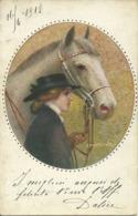 Ragazza Con Cavallo, Fille Avec Cheval, Girl With Horse, Illustrazione, C. Monestier Illustratore - Monestier, C.