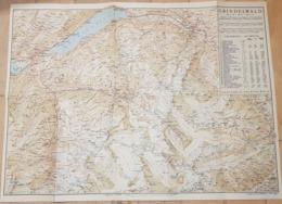 Carte Grindelwald Exkursionen (~54 X 41 Cm) ( 1:75000  Recto 1: 35'000) Sommer Und Winterkuror Bern - Schwiez - Cartes Topographiques