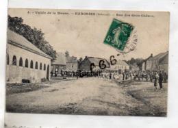 CPA - 08 - HARGNIES - Rue Des Gros Chênes - Animation - Défilé Militaire - Pas Courante - France