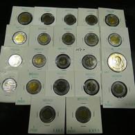Mexico 22 Coins All Varnished - Münzen & Banknoten