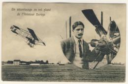 Aviateur Deroye -  Viaggiata   -  (2 Immagini) - Airmen, Fliers