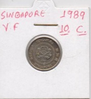 SINGAPORE COIN  10 CENTS-1989-USED AS SCAN(Kbx2) - Singapore