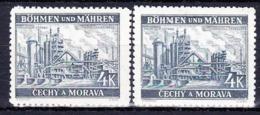 Boheme Et Moravie 1939 Mi 34 (Yv 34), (MNH)** Couleurs - Bohême & Moravie