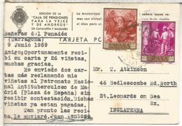 BAÑERAS DEL PENEDES TP LA CAIXA CON SELLOS ARTE PINTURA VELAZQUEZ - 1961-70 Usados