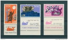 Israel - 1963, Michel/Philex No. : 287/288/289,  - MNH - *** - Full Tab - Neufs (avec Tabs)