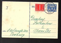 1948 Duif En Krimpen MIXED Franking Voorburg > Monster Postkantoor 'zoekgeraakt Poststuk'(FF-58) - Lettres & Documents