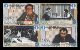 Armenia (Nagorno-Karabakh) 2019 Mih. 203/06 Chess. Tigran Petrosian MNH ** - Armenia
