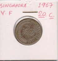 SINGAPORE COIN  20 CENTS-1987-USED AS SCAN(Kbx2) - Singapore