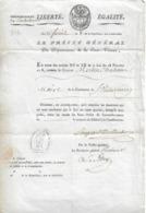 Nomination Du Maire De St-Victurnien (Haute-Vienne) Par Le Préfet, 16 Floréal An 8 - Documents Historiques