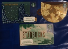 Lot Of 3 Different Vietnam Viet Nam Starbucks Card Cards - Issued On 10th Of Sep 2019 - Pin Intact - Gift Cards