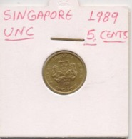 SINGAPORE COIN  1 CENT-1989-USED AS SCAN(Kbx2) - Singapore