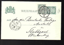 TRAMSTEMPEL Winsum-Ulrum 1902  > Stuttgart (FF-61) - Marcophilie
