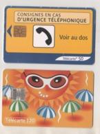 3 CARTES TELEPHONIQUES - URGENCE, ILLUSTRATION TINO, AU COEUR DES VILLES L AUTOMNE, VOIR LES SCANNERS - Frankrijk