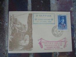 Guerre 39.45 Constantine , 2 Eme S A P P A N  Timbre Petain Surcharge Secours National 4 F - Argelia (1924-1962)
