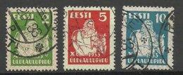 ESTLAND Estonia 1933 Michel 99 - 101 O - Estonie