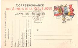 TRESOR ET POSTES * 121 * Sur Carte De Franchise Militaire N'ayant Pas Circulé - Postmark Collection (Covers)