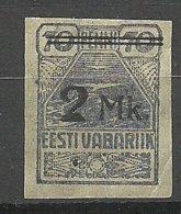 Estland Estonia 1919 Möwe Michel 20 MNH - Estland