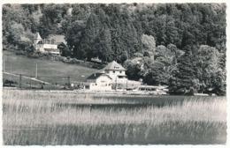 """CPSM Dentelée 9 X 14  Haute Savoie Lac D'ANNECY Le Petit Port En Haut Le Château """"La Tour"""" (Maison D'Eugène Süe) - France"""