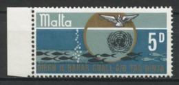 MALTE 1969 N° 392 ** Neufs MNH Superbes Océans Poissons Fishes Nations Unies Oiseaux Colombe Birds - Malta