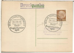 ALEMANIA 3 REICH 1936 BERLIN WELT KEGLERTURNIER BOLOS BOWLING - Sellos